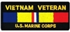 VIEW Vietnam Veteran US Marine Corps Patch