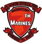 7 Marine Regiment (7th),1st Marine Division FMF Patch