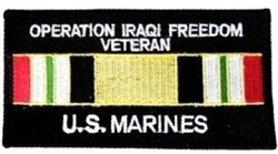 Operation Iraqi Freedom Veteran US Marines Patch