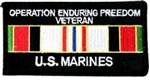 Operation Enduring Freedom Veteran US Marines Patch
