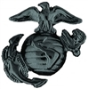 VIEW USMC Globe & Anchor - Black - Left-Facing