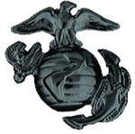 US Marine Corps Globe And Anchor - Black - Right Facing
