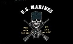 US Marines Mess With The Best Flag - 3' x 5' - Screen-Printed