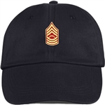 US Marine Corps Rank E8 Master Sergeant (MSgt) BALL CAP or PIN