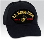 US Marine Corps World War II Veteran BALL CAP or PATCH