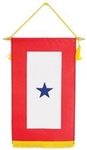 "Blue Star Service Banner - Window Hanging - 8""x14"""
