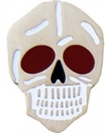 Red-Eyed Skull Pin
