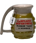 Ceramic Complaint Department Grenade Coffee Mug (12 Ounces)