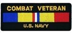 Combat Veteran US Navy Patch