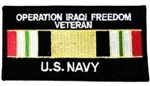 Operation Iraqi Freedom Veteran US Navy Patch