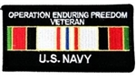 Operation Enduring Freedom Veteran US Navy Patch