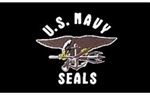 United States Navy Seals Flag - 3'x5' - Screen Printed