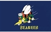 United States Navy Seabees Flag - 3'x5' - Screen Printed