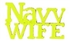 VIEW Navy WIFE Script Lapel Pin