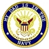 My Dad Is In The Navy Pin