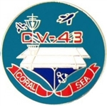 VIEW USS Coral Sea Lapel Pin