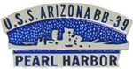 VIEW USS Arizona Lapel Pin