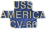 VIEW USS AMERICA Lapel Pin