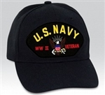 US Navy World War II Veteran BALL CAP or PATCH