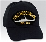 USS Wisconsin (BB-64) BALL CAP or PATCH