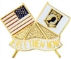 POW-MIA Free Them Now US/POW Flags Pin