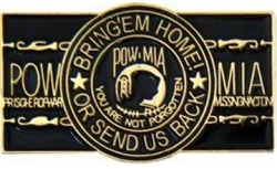 POW-MIA Bring 'Em Home Or Send Us Back Pin