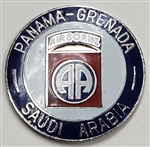 VIEW 82nd AB Div Panama-Grenada-Saudi Lapel Pin
