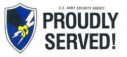 VIEW US Army Security Agency  Bumper Sticker
