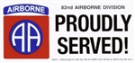 VIEW 82nd AB Div Bumper Sticker