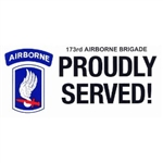 VIEW 173rd AB Bde Bumper Sticker