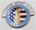 VIEW Army National Guard Desert Shield Lapel Pin