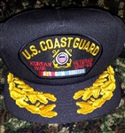 US Coast Guard Korea Veteran Hat With Braid (Limited - 1 Only)