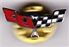 VIEW Corvette Racing Flags Lapel Pin