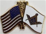 VIEW US/Masonic Flags Lapel Pin