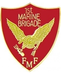 VIEW 1st Marine Brigade, Fleet Marine Force Lapel Pin