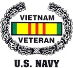 VIEW US Navy Vietnam Veteran Window Sticker