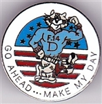 VIEW F-14 Tomcat Go Ahead Make My Day Lapel Pin
