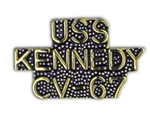 VIEW USS KENNEDY Lapel Pin