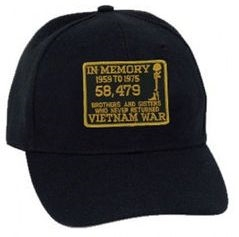 In Memory 58,479 Casualties Vietnam War BALL CAP or PATCH
