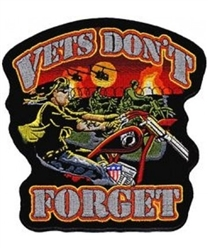 VIEW Vets Don't Forget Back Patch