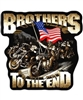 Brothers To The End Back Patch