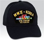 World War II - Korea - Vietnam Veteran BALL CAP or PATCH