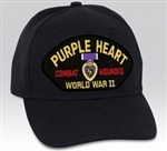 World War II Purple Heart Combat Wounded BALL CAP or PATCH
