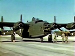 Color photo of a Consolidated B-24D Liberator shown at Muroc Air Force Base during world War 2, featured in the How to Fly The B-24D video.