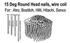 BWC06SB 15 Degree Wire Coil Roundhead Nails