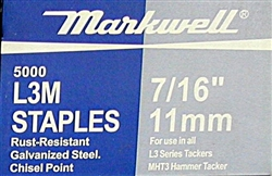 "L3M 7/16""(11 mm) Staples"