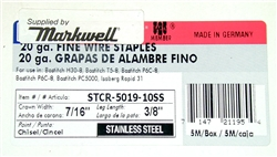 "STCR5019 3/8"" Stainless Steel Staples"