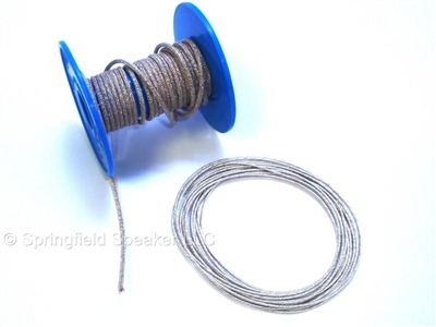 "10 ft 400w Braided Speaker Tinsel Lead Wire .036"" Dia."
