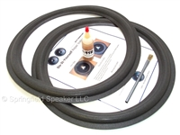 15 inch Standard Speaker Foam Surround Repair Kit - Angle-attach