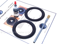 "2 Butyl Rubber 4"" Speaker Surround Repair Kit - Woofer"